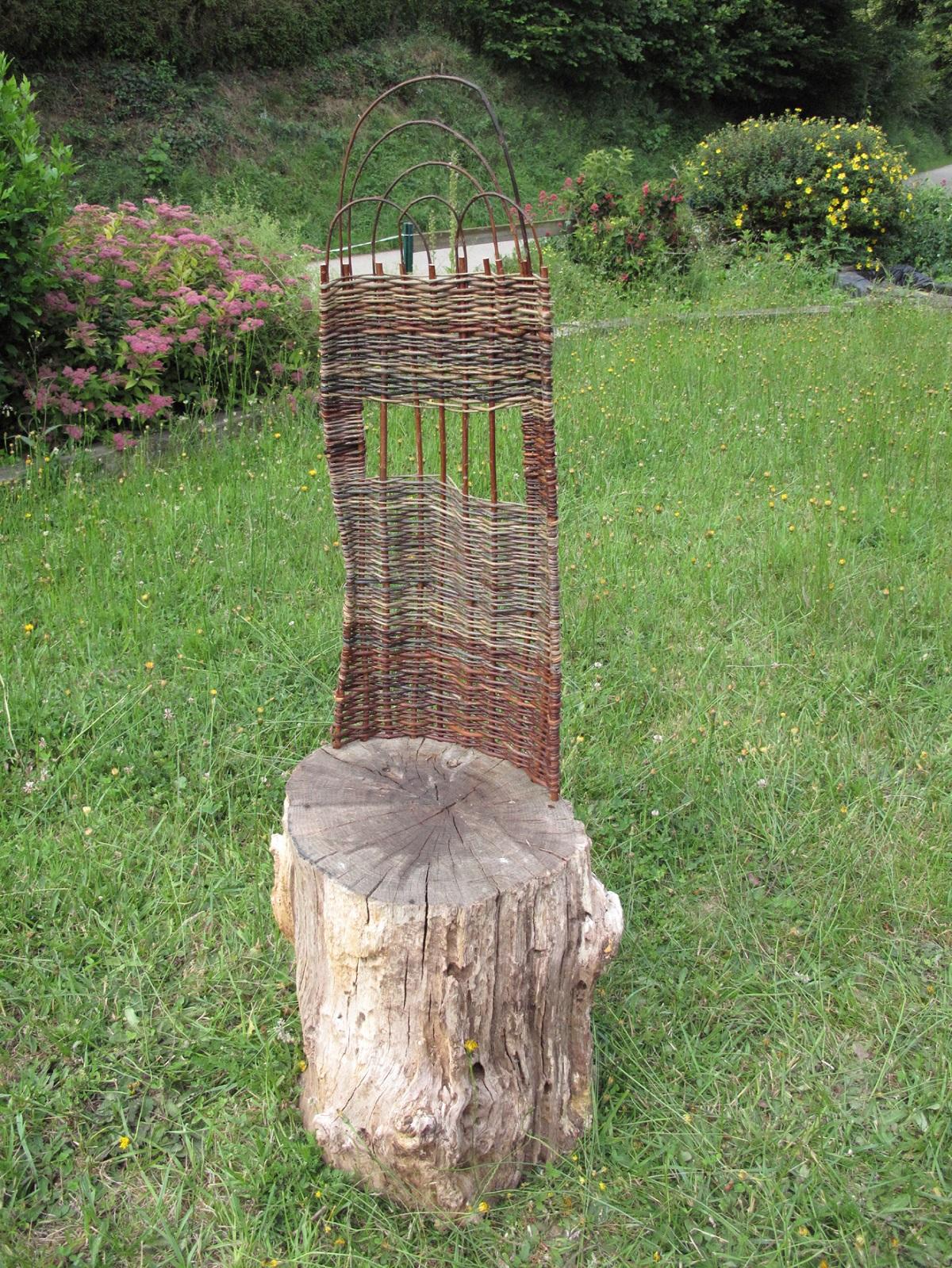 stage fauteuil en osier Ferme d'Antan. Pledeliac
